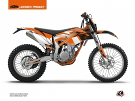 KTM 350 FREERIDE Dirt Bike Skyline Graphic Kit Orange