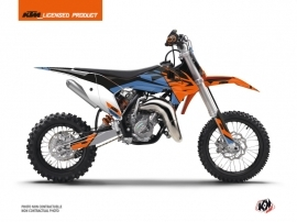 KTM 50 SX Dirt Bike Skyline Graphic Kit Blue