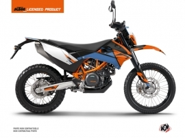 KTM 690 ENDURO R Dirt Bike Skyline Graphic Kit Blue