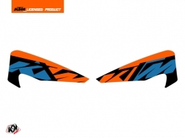 Kit Déco Stickers de protège mains Skyline Moto Cross KTM EXC-EXCF Bleu