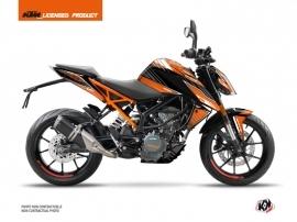 KTM Duke 390 Street Bike Slash Graphic Kit Orange Black
