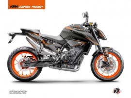 KTM Duke 790 Street Bike Slash Graphic Kit Black Orange