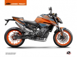 KTM Duke 790 Street Bike Slash Graphic Kit Orange Blue