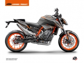 KTM Duke 890 R Street Bike Slash Graphic Kit Black Orange
