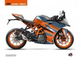 Kit Déco Moto Slash KTM 390 RC Orange Bleu
