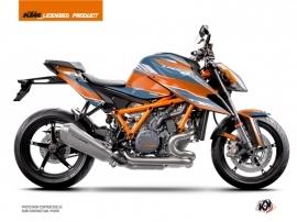 KTM Super Duke 1290 R Street Bike Slash Graphic Kit Orange Blue