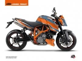Kit Déco Moto Slash KTM Super Duke 990 Orange Bleu