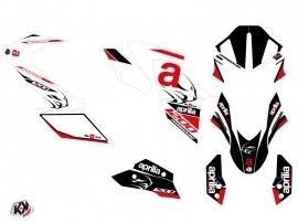 Kit Déco Moto Sleek Aprilia DORSODURO 1200 Blanc Rouge