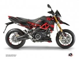 Aprilia DORSODURO 750 Street Bike Sleek Graphic Kit Black Red