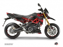 Aprilia DORSODURO 900 Street Bike Sleek Graphic Kit Black Red