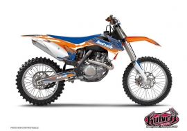 Kit Déco Moto Cross Slider KTM EXC-EXCF Bleu