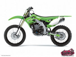 Kawasaki 250 KXF Dirt Bike Slider Graphic Kit