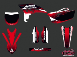 Yamaha 250 YZF Dirt Bike Slider Graphic Kit Red