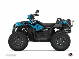 Polaris 1000 Sportsman XP S Forest ATV Spin Graphic Kit Blue