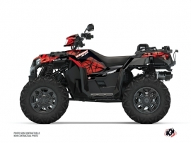 Polaris 1000 Sportsman XP S Forest ATV Spin Graphic Kit Black Red