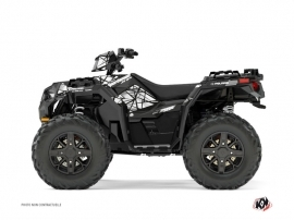 Polaris 1000 Sportsman XP Forest ATV Spin Graphic Kit Grey