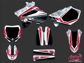 Kit Déco Moto Cross Spirit Yamaha 125 YZ Rouge