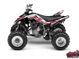 Yamaha 250 Raptor ATV Spirit Graphic Kit Red