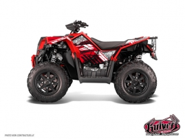 Kit Déco Quad Spirit Polaris Scrambler 850-1000 XP Rouge FULL