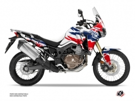 Kit Déco Moto Splash Honda Africa Twin CRF 1000 L Rouge Bleu