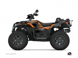 Polaris 1000 Sportsman XP S Forest ATV Splinter Graphic Kit Black Orange