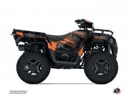 Polaris 450 Sportsman ATV Splinter Graphic Kit Black Orange