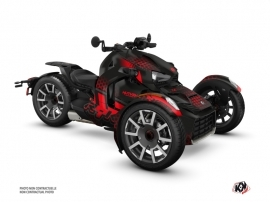 Can Am Ryker 600 900 Rally Edition Roadster Splinter Graphic Kit Black Red