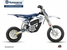 Husqvarna EE-5 Dirt Bike Split Graphic Kit White Blue
