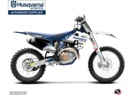 Kit Déco Moto Cross Split Husqvarna FC 250 Blanc Bleu