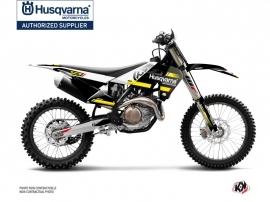 Kit Déco Moto Cross Split Husqvarna TC 125 Noir Jaune