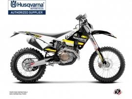Kit Déco Moto Cross Split Husqvarna 125 TE Noir Jaune