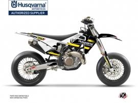 Husqvarna 450 FS Dirt Bike Split Graphic Kit Black Yellow