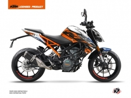 KTM Duke 390 Street Bike Spring Graphic Kit White Orange