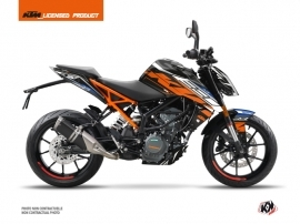 KTM Duke 390 Street Bike Spring Graphic Kit Black Orange