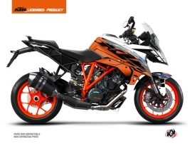 KTM Super Duke 1290 GT Street Bike Spring Graphic Kit White Orange