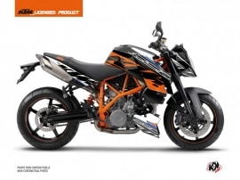 KTM Super Duke 990 Street Bike Spring Graphic Kit White Orange
