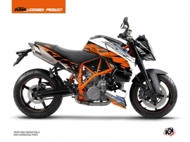 KTM Super Duke 990 Street Bike Spring Graphic Kit Black Orange