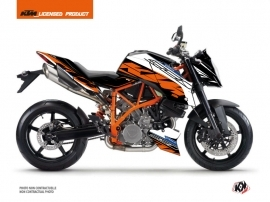 KTM Super Duke 990 R Street Bike Spring Graphic Kit Black Orange