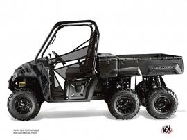 Polaris Ranger 6x6 UTV Squad Graphic Kit Black Grey