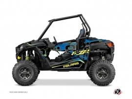 Kit Déco SSV Squad Polaris RZR 900 S Bleu Jaune