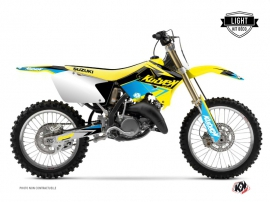Kit Déco Moto Cross Stage Suzuki 250 RM Jaune Bleu LIGHT