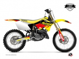 Kit Déco Moto Cross Stage Suzuki 250 RM Jaune Rouge LIGHT