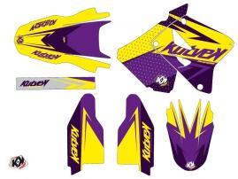 Kit Déco Moto Cross Stage Suzuki 125 RM Jaune Violet LIGHT