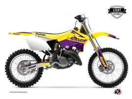 Kit Déco Moto Cross Stage Suzuki 125 RM Jaune - Violet LIGHT