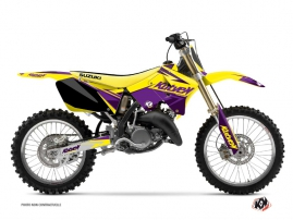 Suzuki 125 RM Dirt Bike Stage Graphic Kit Yellow Purple