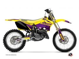 Kit Déco Moto Cross Stage Suzuki 125 RM Jaune - Violet