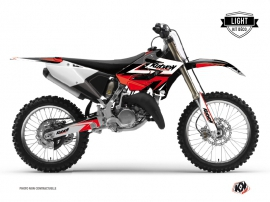 Kit Déco Moto Cross Stage Yamaha 250 YZ Noir - Rouge LIGHT