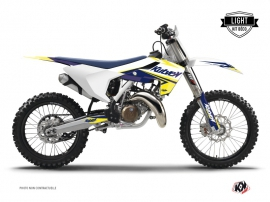 Kit Déco Moto Cross Stage Husqvarna TC 125 Blanc Jaune LIGHT