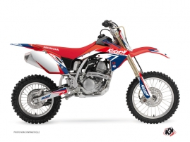 Kit Déco Moto Cross Stage Honda 125 CR Bleu Rouge