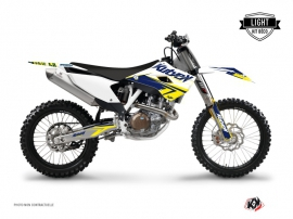 Kit Déco Moto Cross Stage Husqvarna TC 250 Blanc Jaune LIGHT